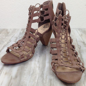 Vince Camuto Open Toe Booties 11